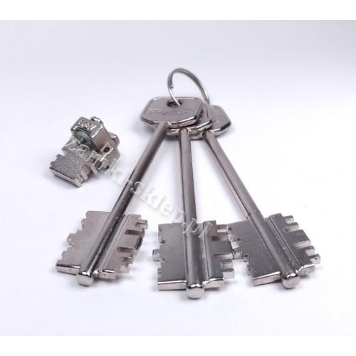 Wkładka do drzwi DIERRE  + 3 klucze proste 107 mm