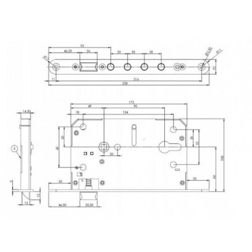 Zamek ROM 124 zamiennik do drzwi Witex WSL 1500
