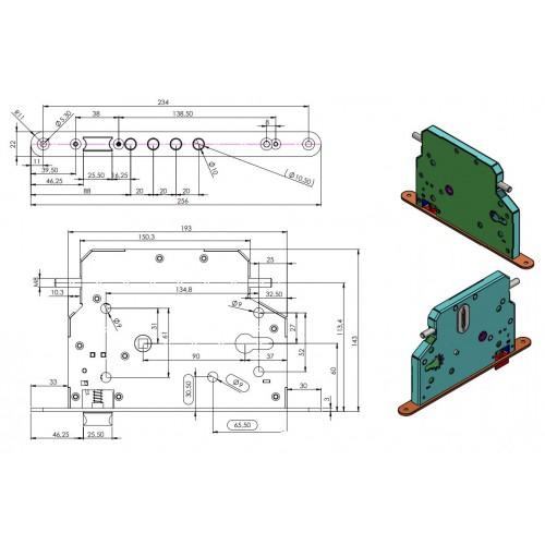 Zamek ROM 103C zamiennik do drzwi Witex WSL 1500